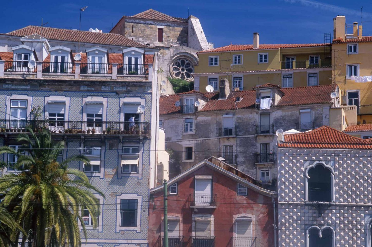 Image of houses in the Alfama district, Lisbon