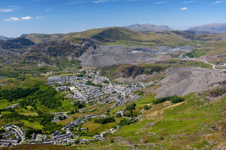 Image of the slate town of Blaenau Ffestiniog