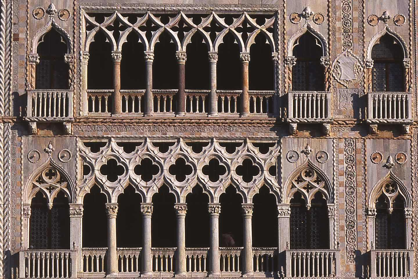 Image of the facade of Ca' d'Oro palace, Venice