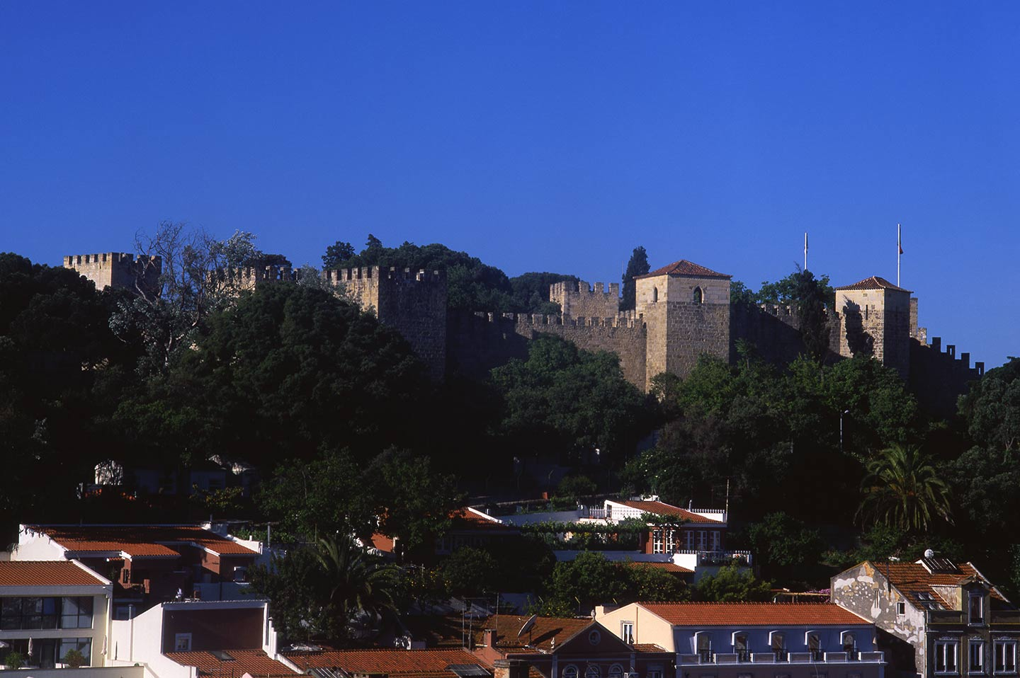 Image of the Castelo from the Miradouro da Graça, Lisbon