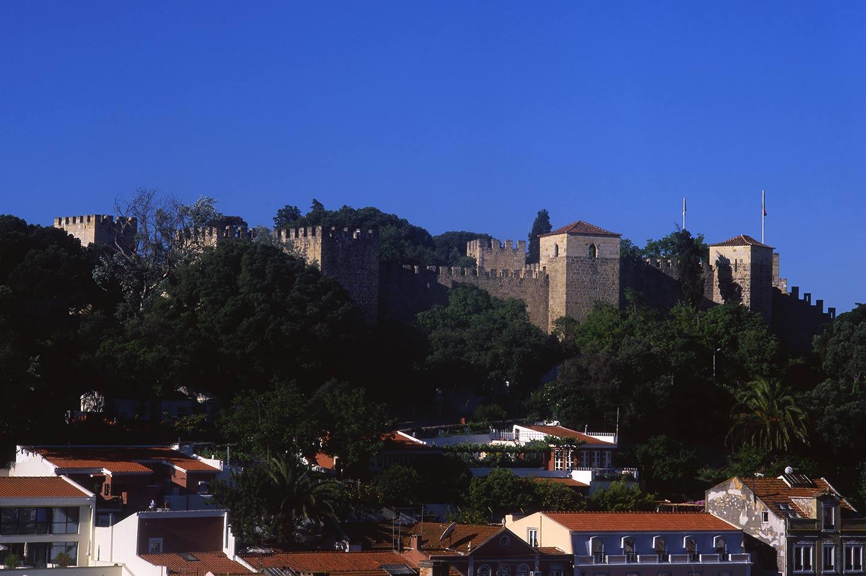 Image of the Castelo from the Miradouro da Graça, Lisbon