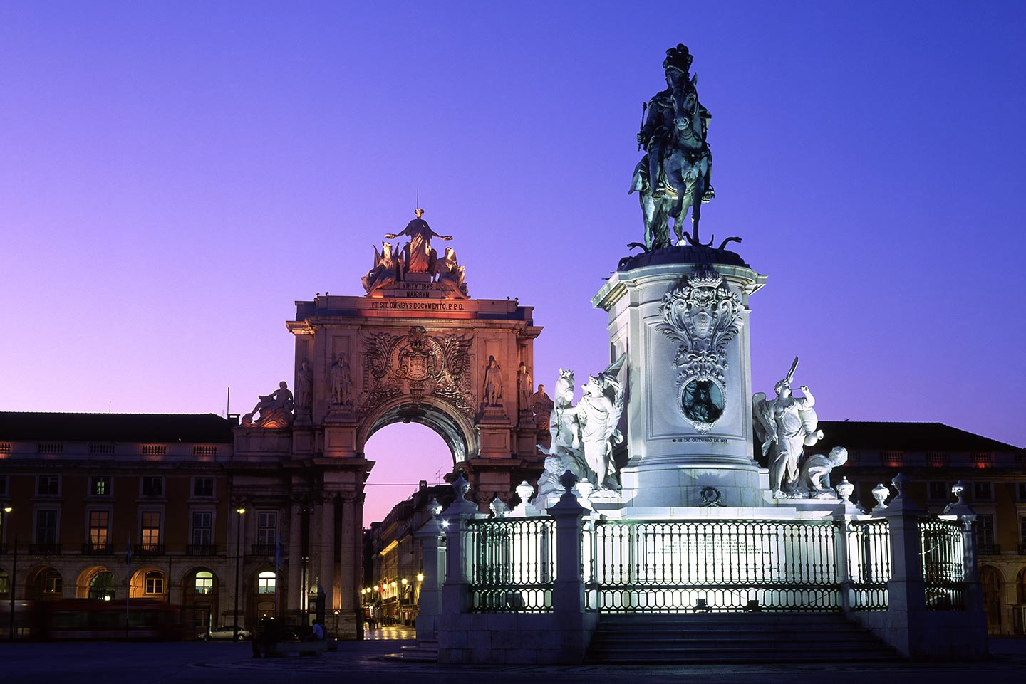 Image of Praça do Comercio square and Arco da Rua Augusta, LIsbon