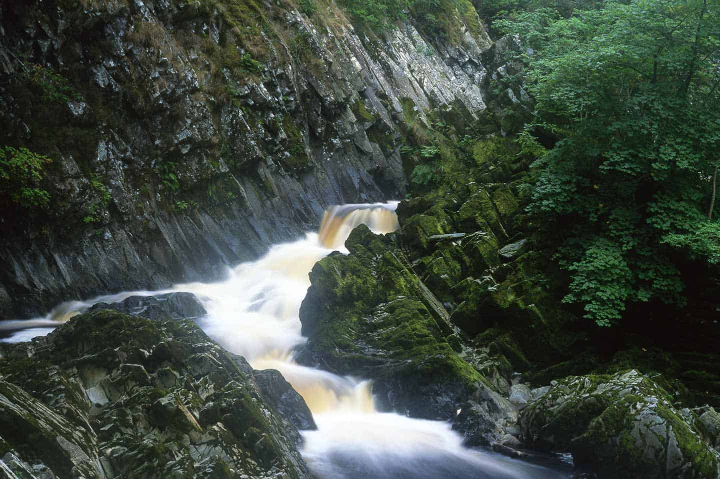 Image of Conwy Falls, a few miles east of Betws-y-Coed