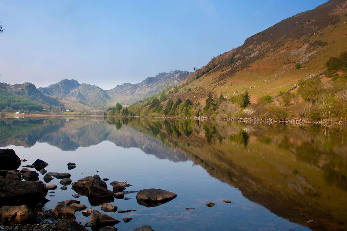 Image of Llyn Crafnant lake in Snowdonia