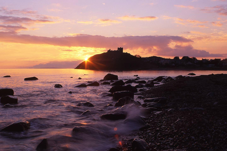 Image of Criccieth East beach and Castle