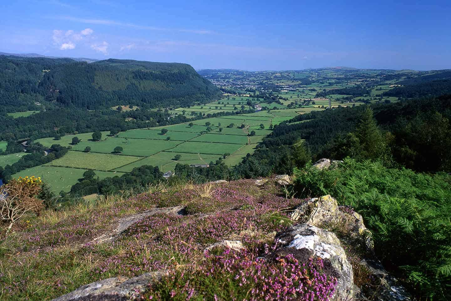 Image of the Conwy Valley from Mynydd Garthmyn