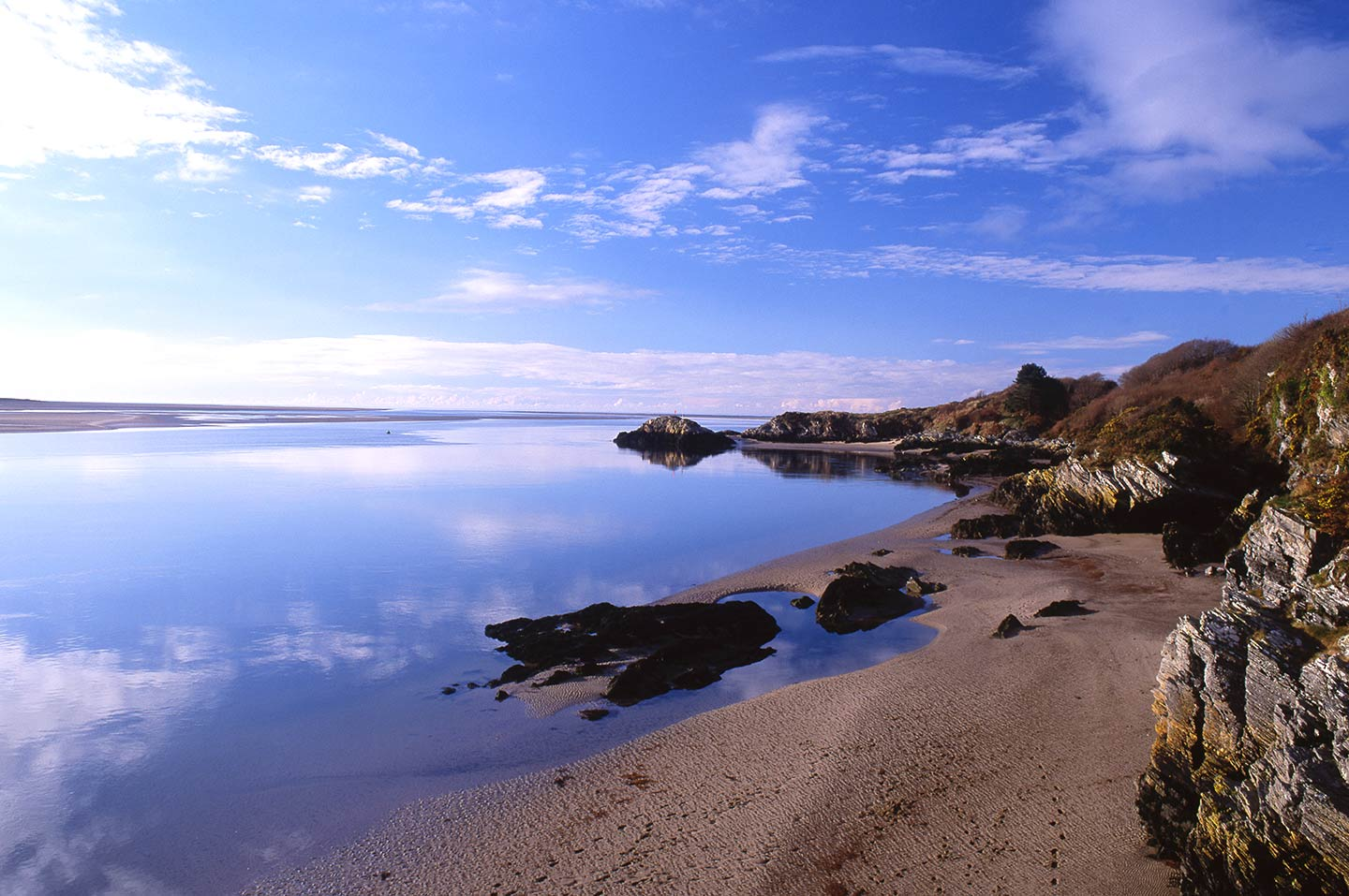 Image of a beach on the Glaslyn estuary