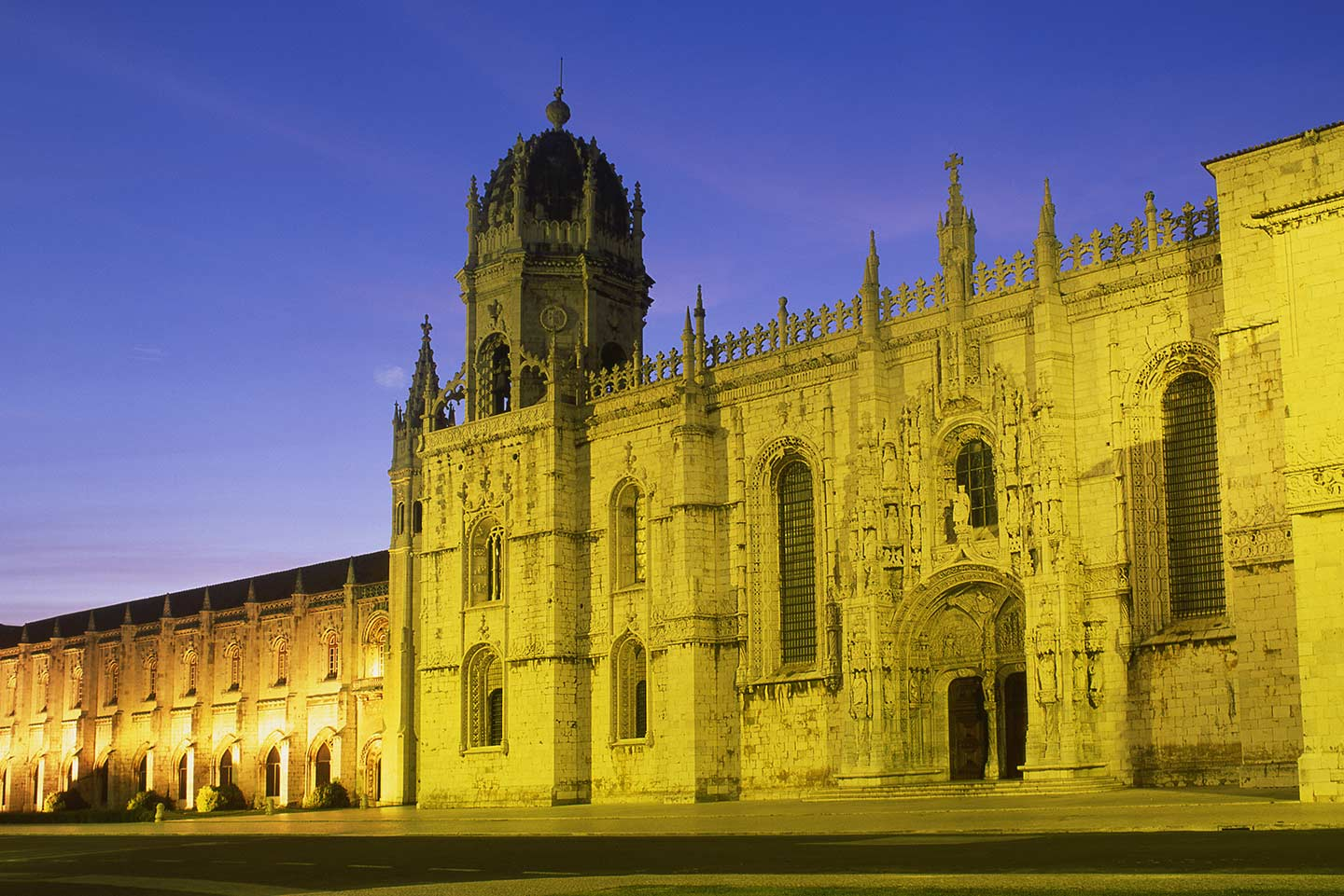 Image of the Jeronimos Monastery, or Mosteiro dos Jeronimos, in Belem