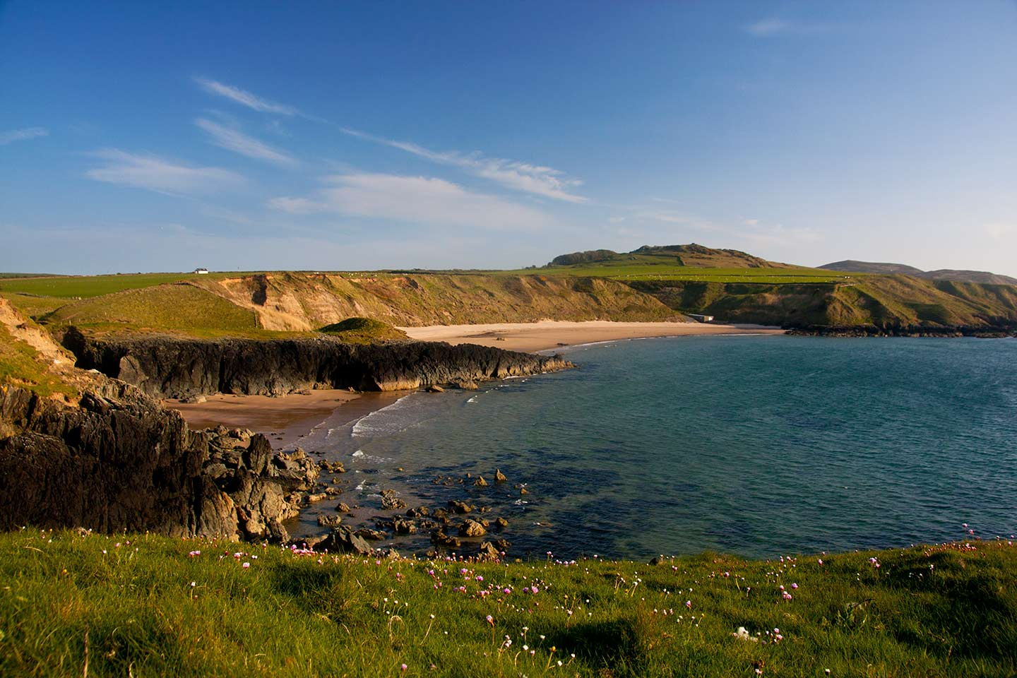Image of Whistling Sands, or Porth Oer beach