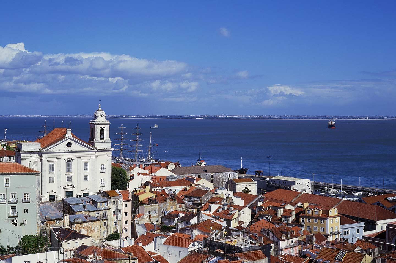 Image of the view from the Miradouro de Santa Luzia in the Alfama, Lisbon