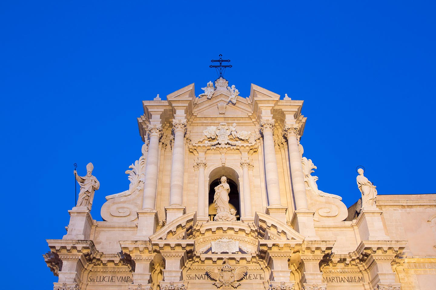 Image of the duomo or cathedral in Ortigia, Syracuse, Sicily