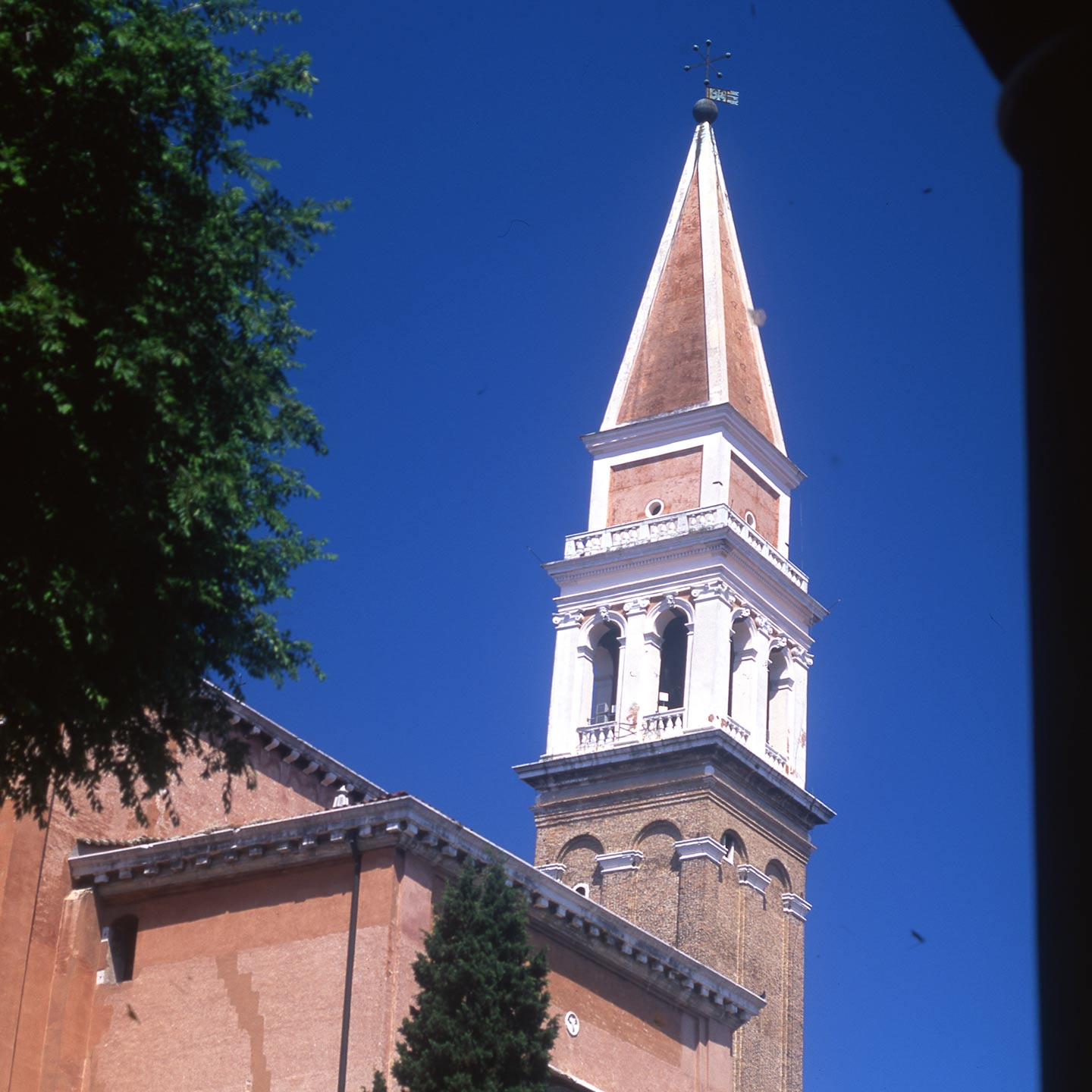 Image of the campanile of San Francesco della Vigna church in Venice
