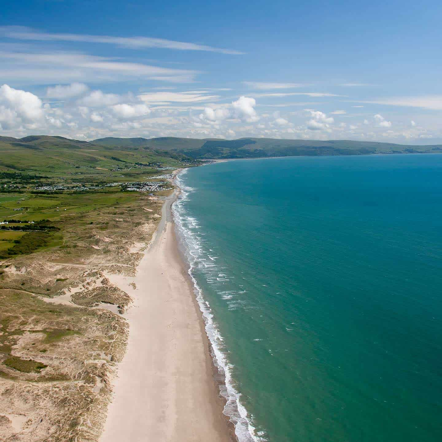 Image of beaches to the north of Barmouth, Wales