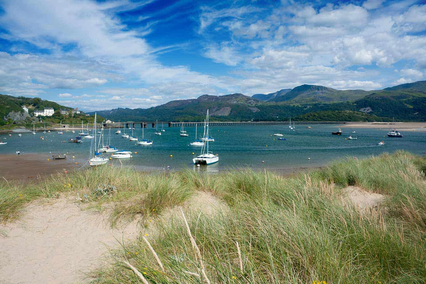 Image of Barmouth beach and the Mawddach river