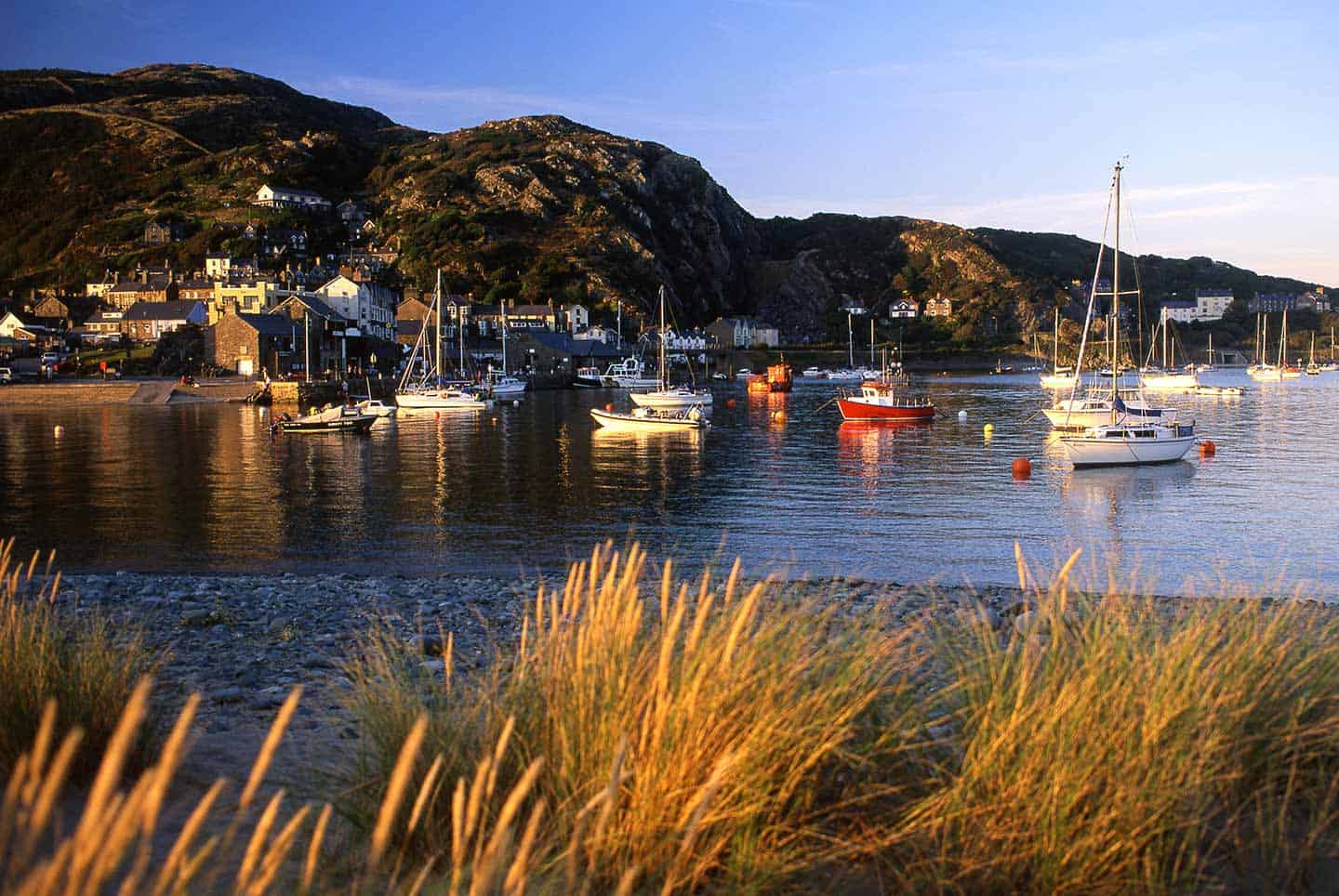 Image of Barmouth harbour at sunset