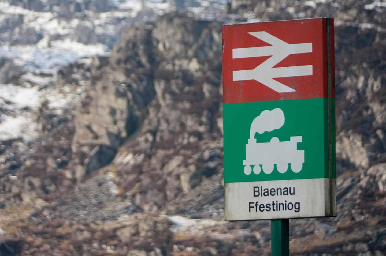 Image of Blaenau Ffestiniog railway station signs