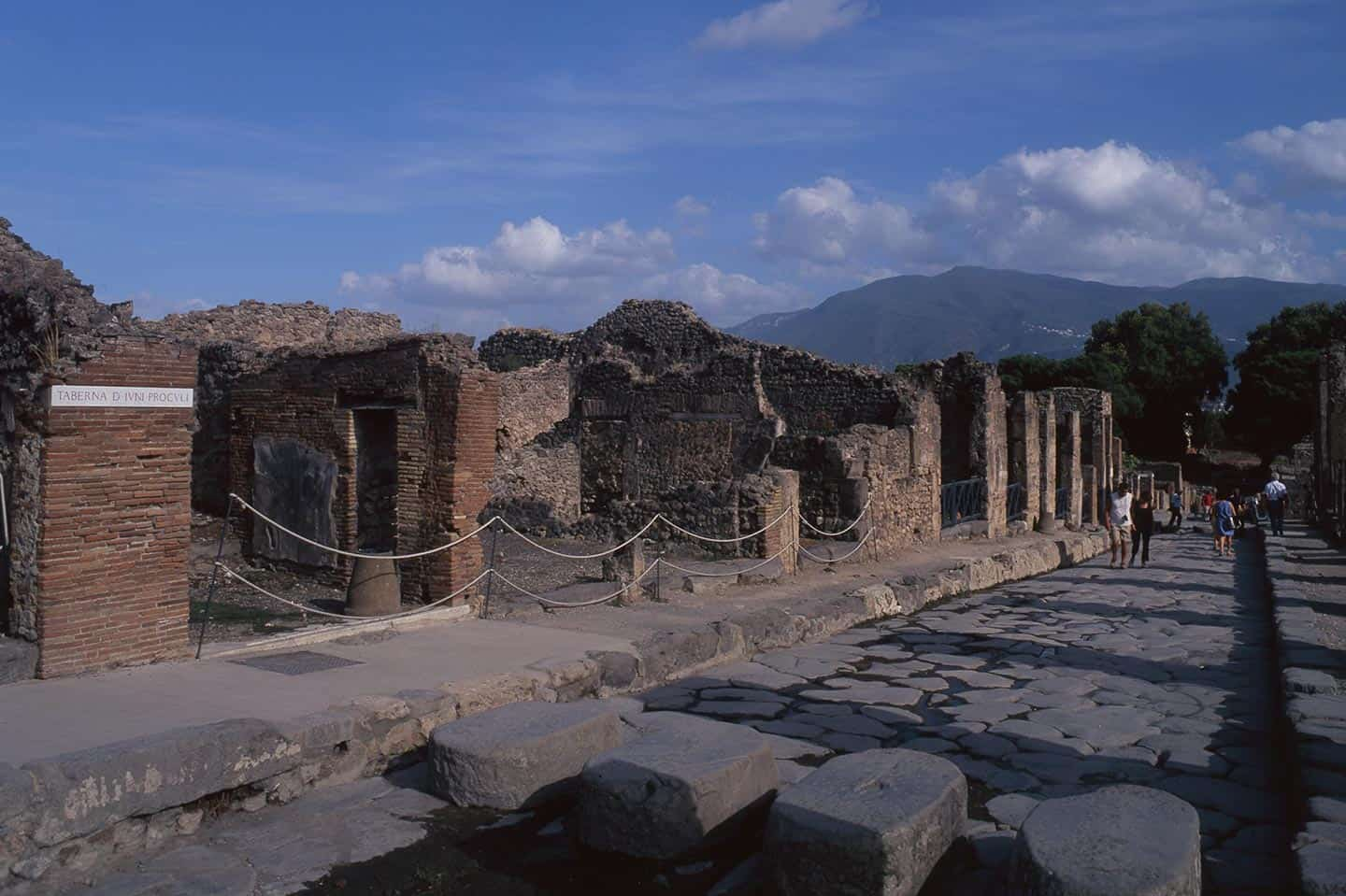 Image of one of the main streets in Pompeii