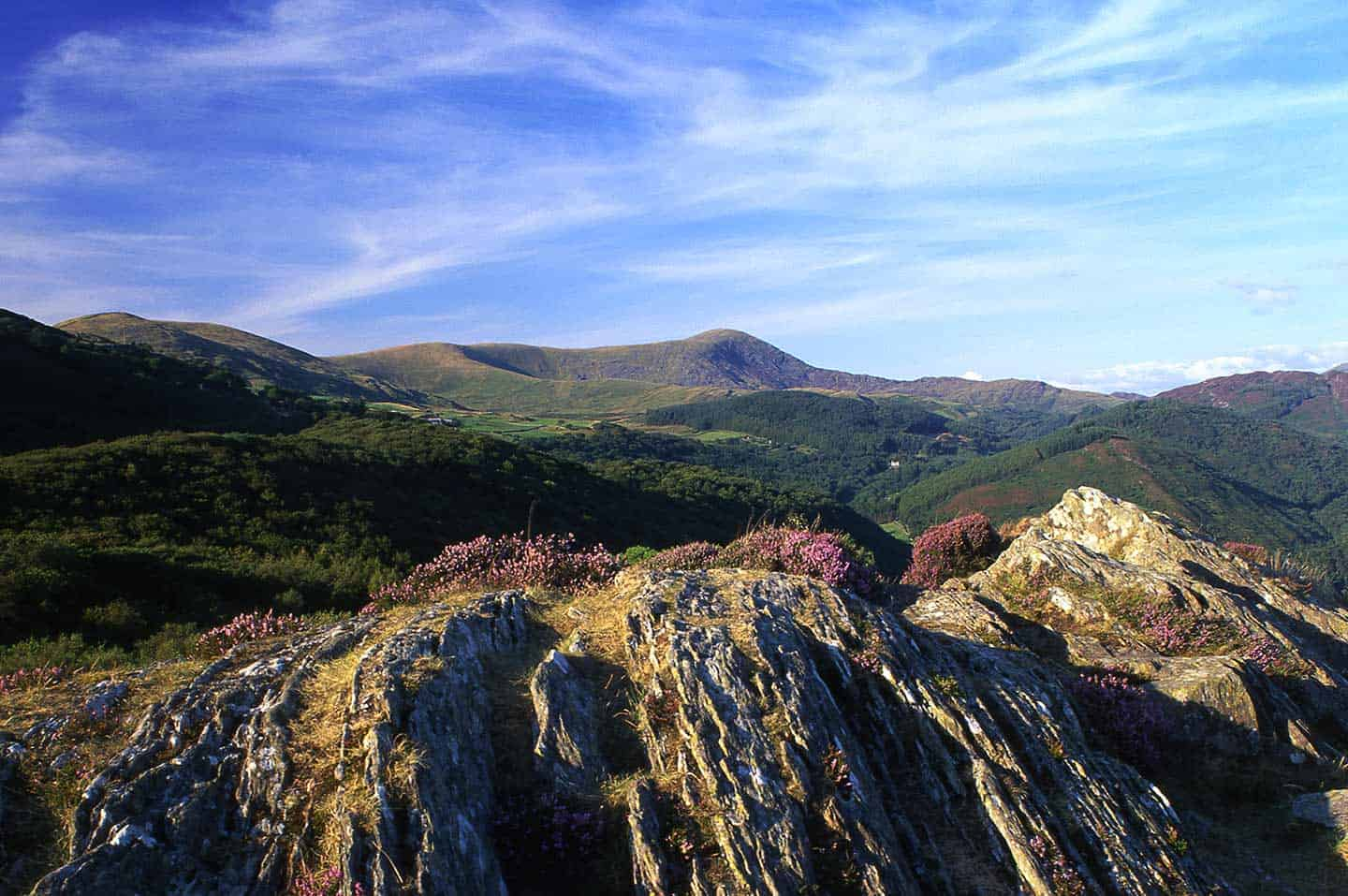 Image of the Rhinog mountains from Barmouth, Snowdonia