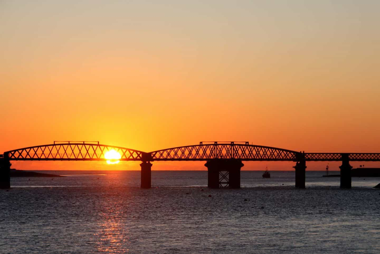 Image of Barmouth Bridge at sunset