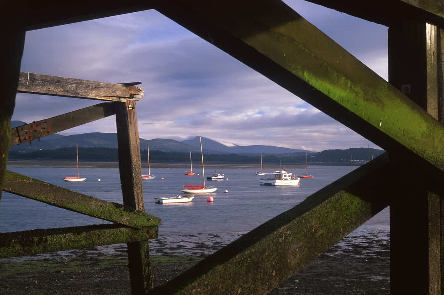 Anglesey UK Image of the Menai Strait, Anglesey from below Beaumaris Pier
