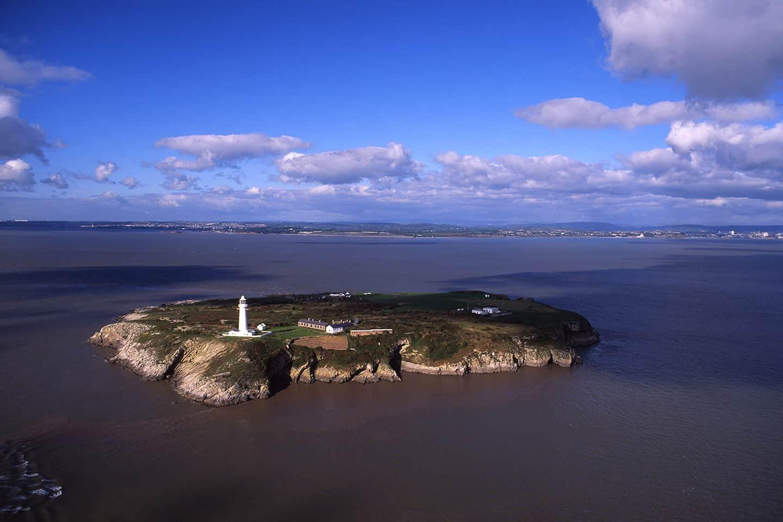 Image of Flat Holm Island, near Cardiff, Wales