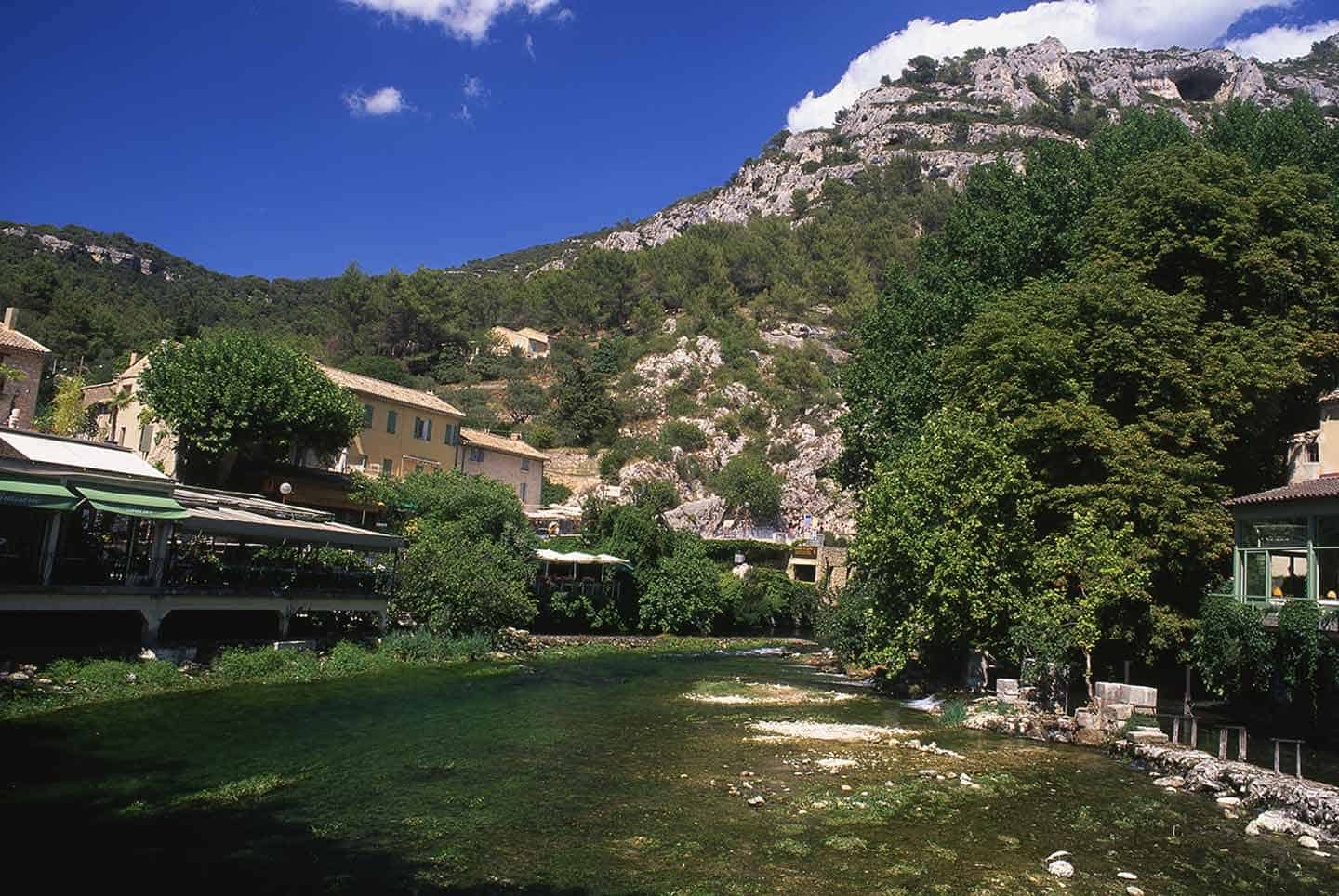 Image of the river Sorgue at Fontaine-de-Vaucluse, Provence