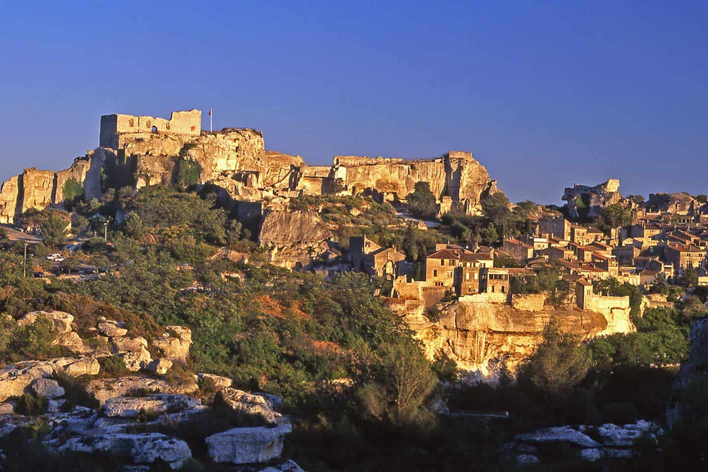 Image of the village of Les Baux de Provence