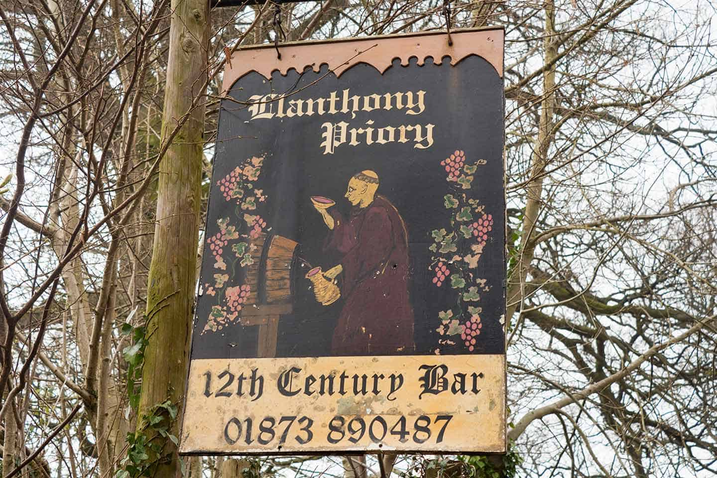 Image of Llanthony Priory Bar sign