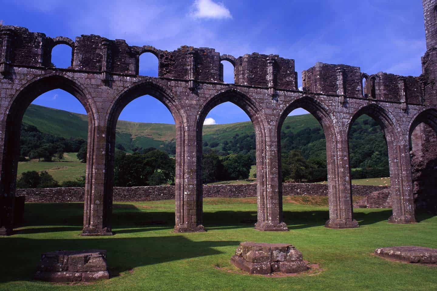 Image of the nave arches of Llanthony Priory, Wales