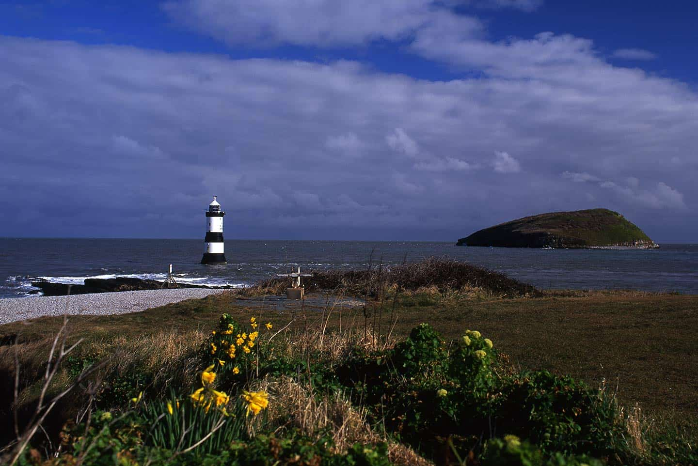 Image of the beach at Penmon Point and Puffin Island, Anglesey