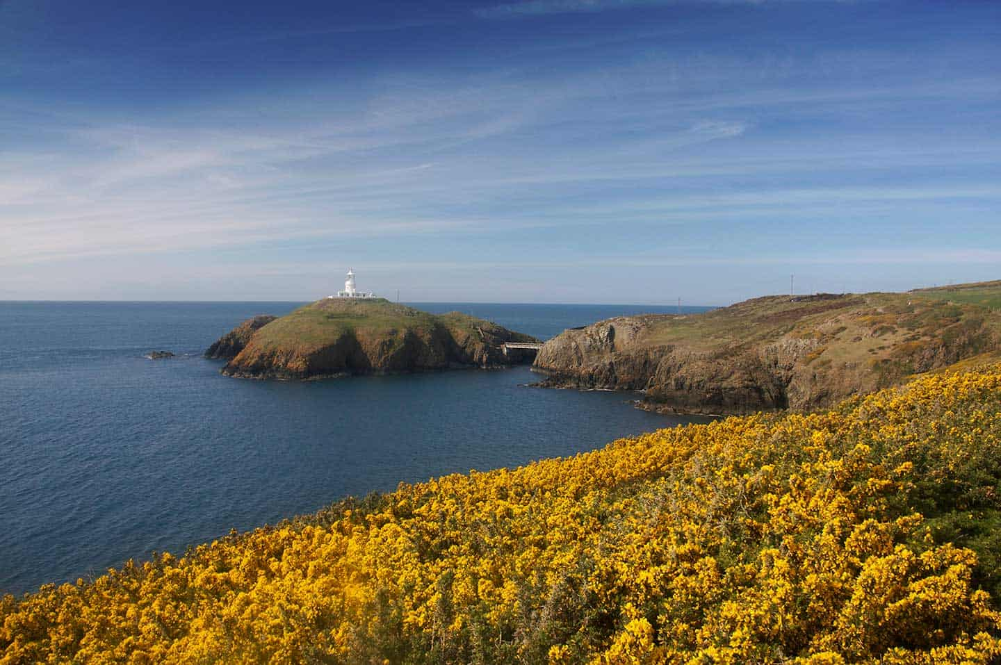 Image of Strumble Head lighthouse, Pembrokeshire, Wales