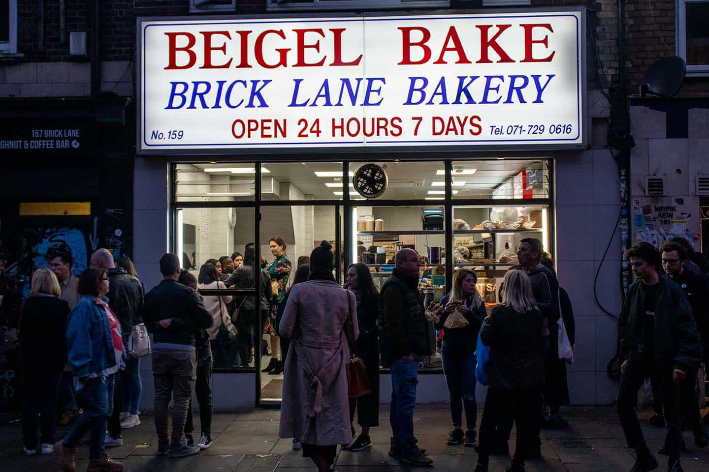 Image of the Brick Lane Beigel Bake shop in London