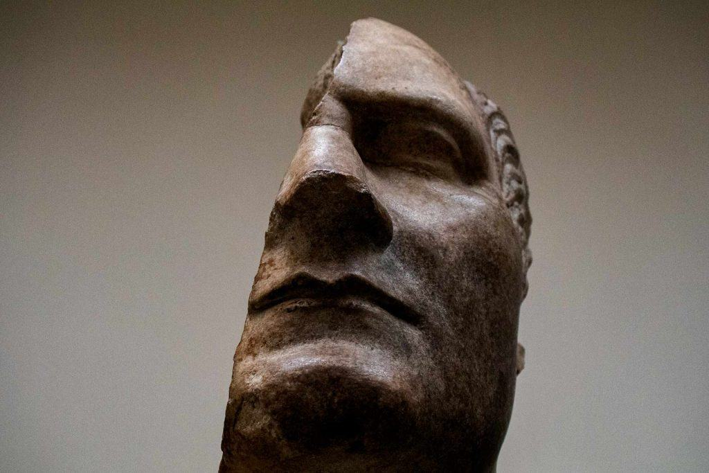 British Museum Highlights Image of a damages bust of Julius Caesar in the British Museum London