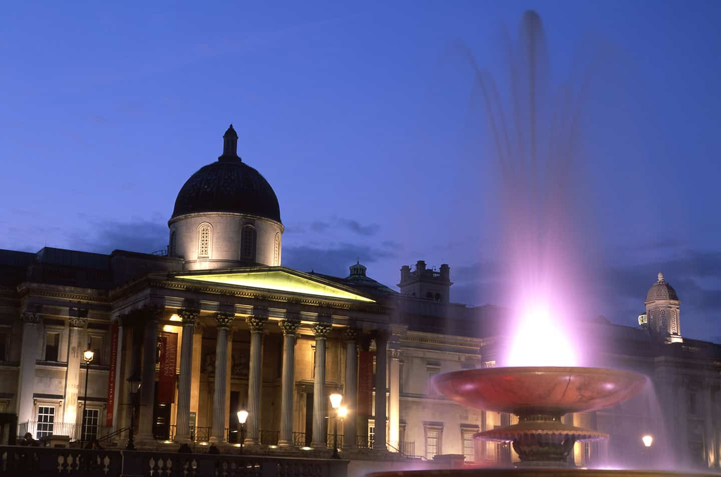 Image of Trafalgar Square one of the most popular London sites for visitors