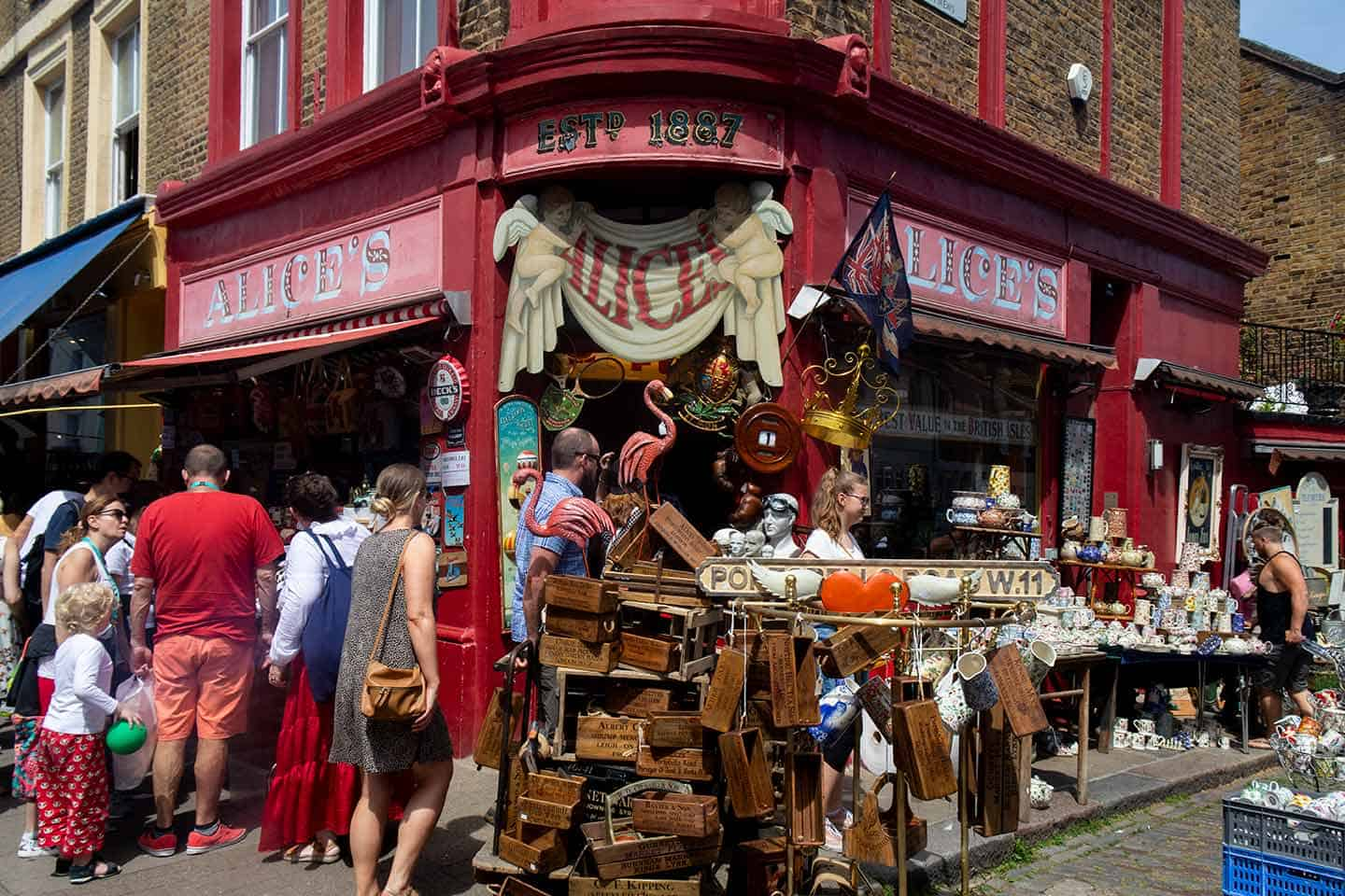 Image of Alice's Antique Shop on Portobello Road, London