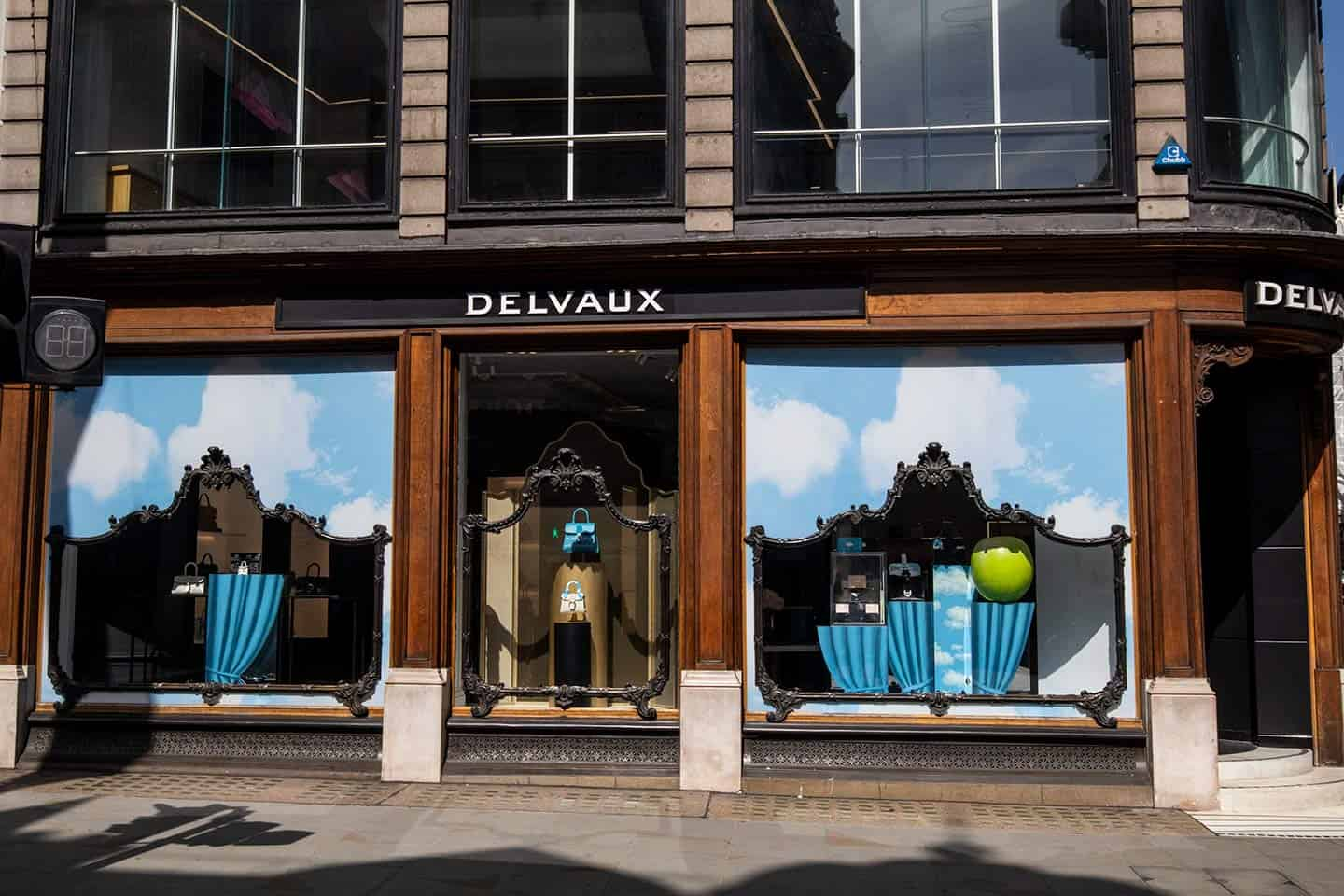 Image of the Delvaux luxury leather goods store on New Bond Street, London