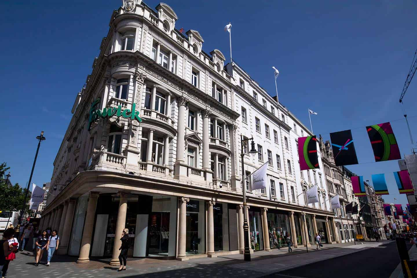 Image of the upmarket Fenwick department store on New Bond Street, London