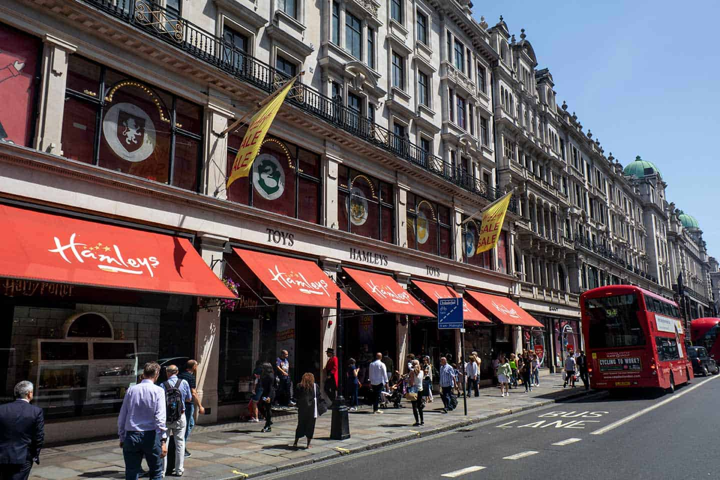 Image of Hamleys Toy Store on Regent Street, London