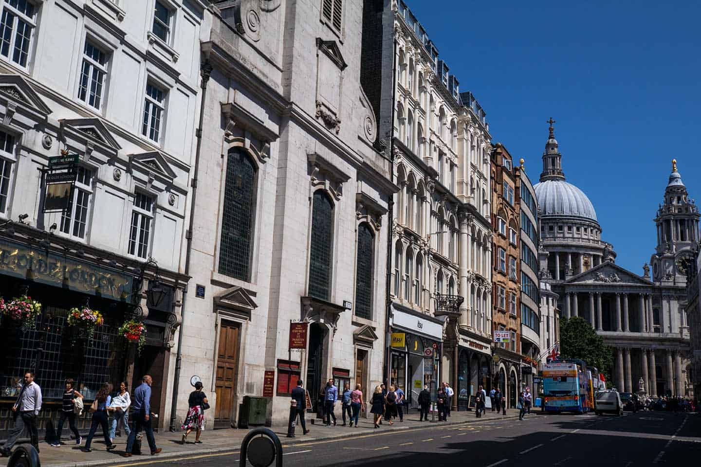 Image of Ludgate Hill looking up to St Paul's Cathedral, London