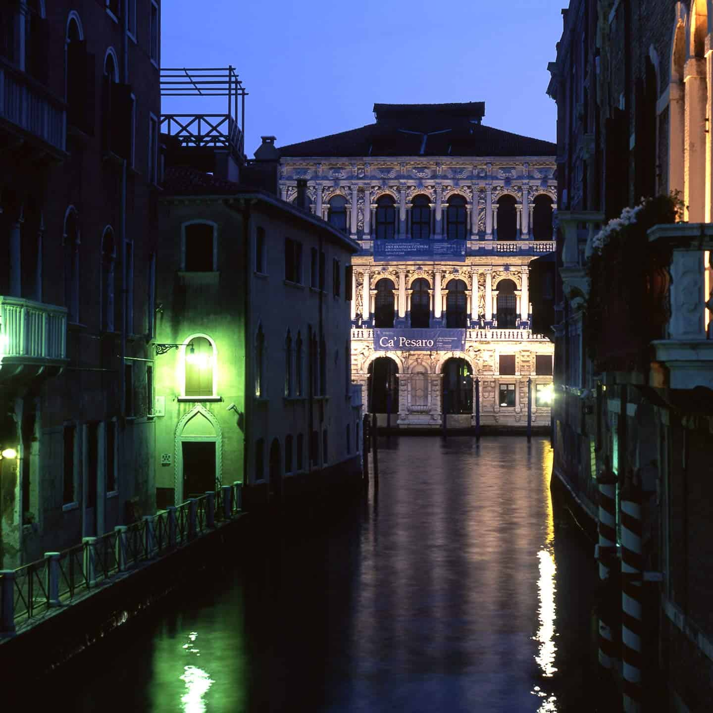 Image of Ca' Pesaro palace on the Grand Canal in Venice Italy