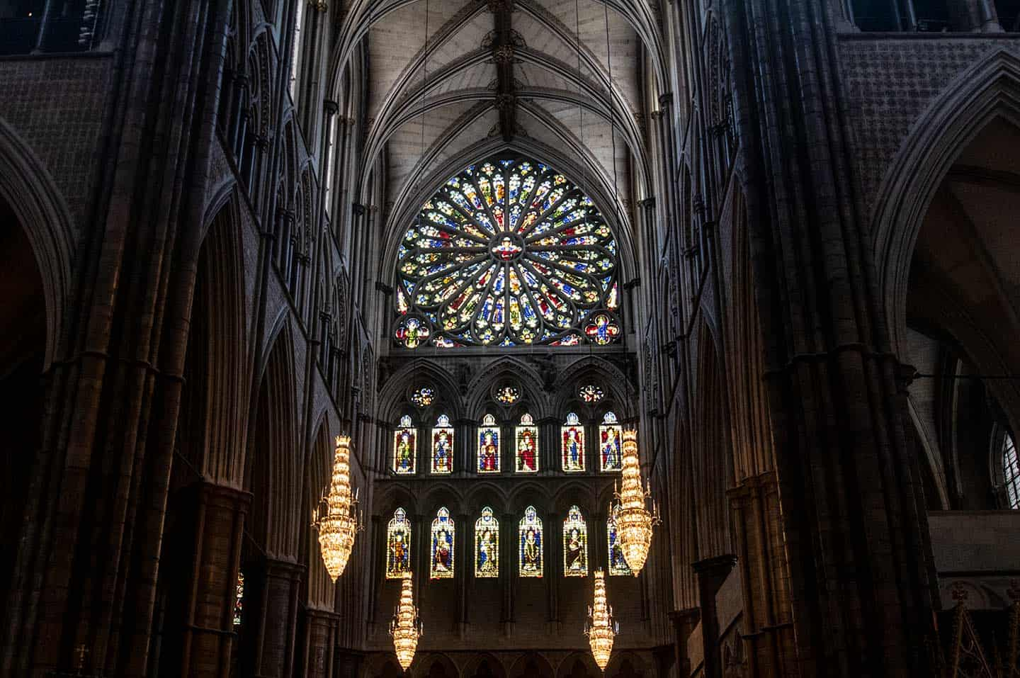Imaghe of the south transept rose window at Westminster Abbey, London