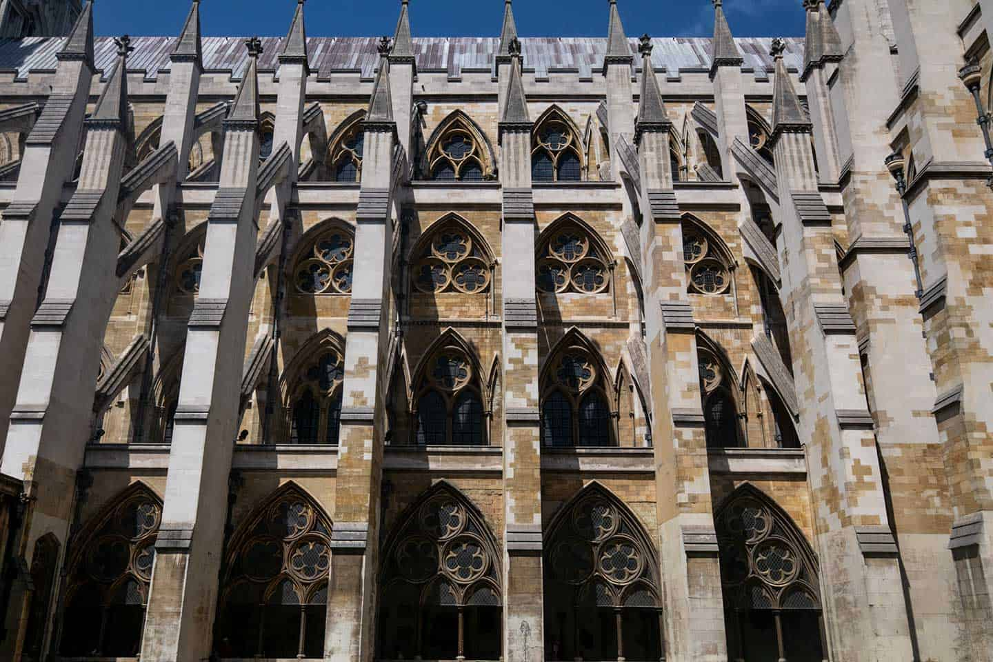 Image of the south side of Westminster Abbey, seen from the Cloister