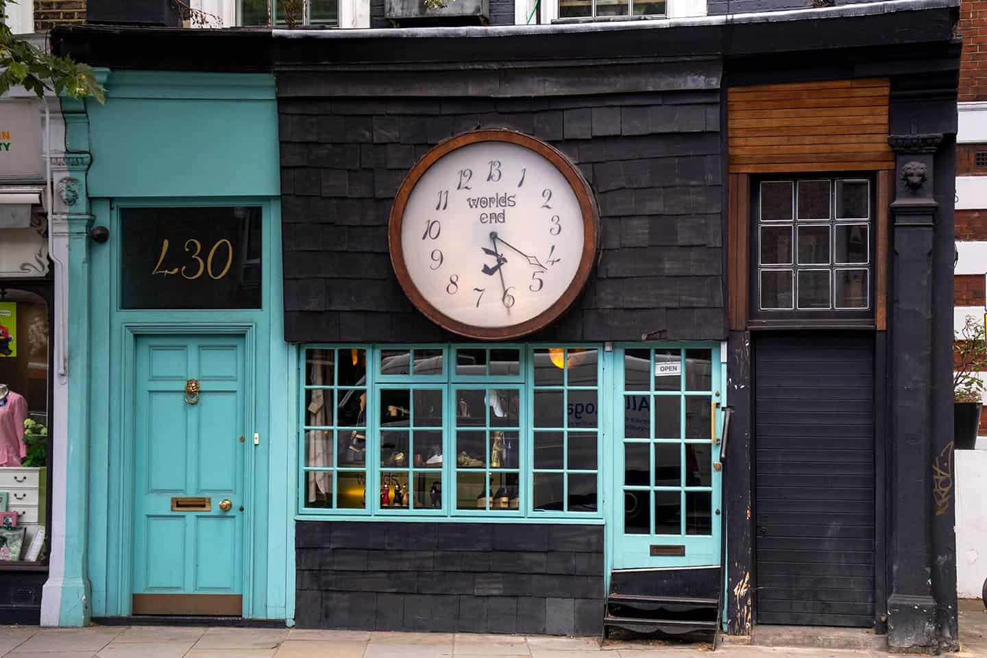 Image of Vivienne Westwood's World's End shop on King's Road, Chelsea