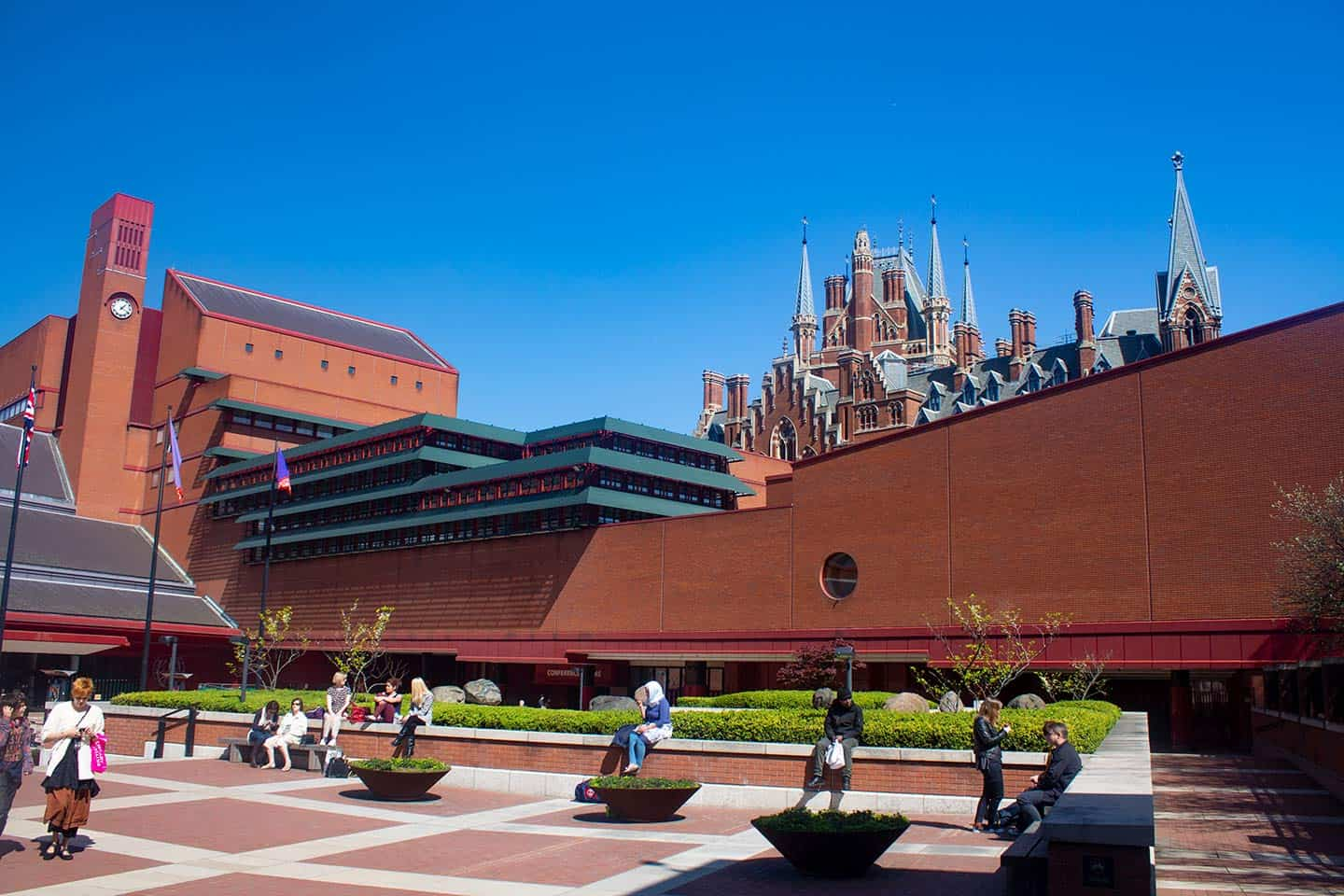Image of the British Library building in London