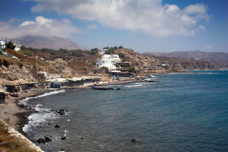 Image of Akrotiri beach on Santorini island Greece