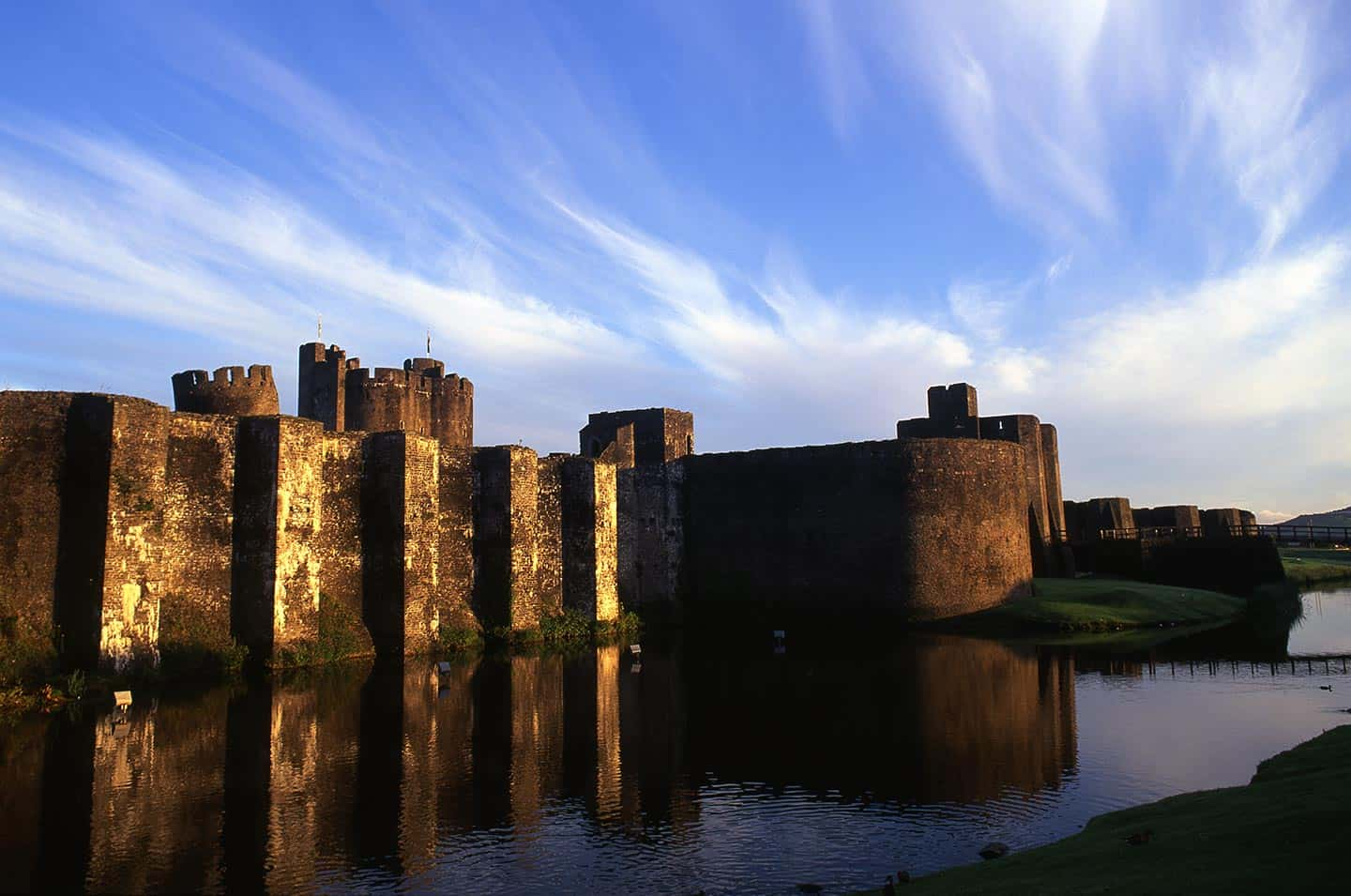 Image of Caerphilly Castle in South Wales
