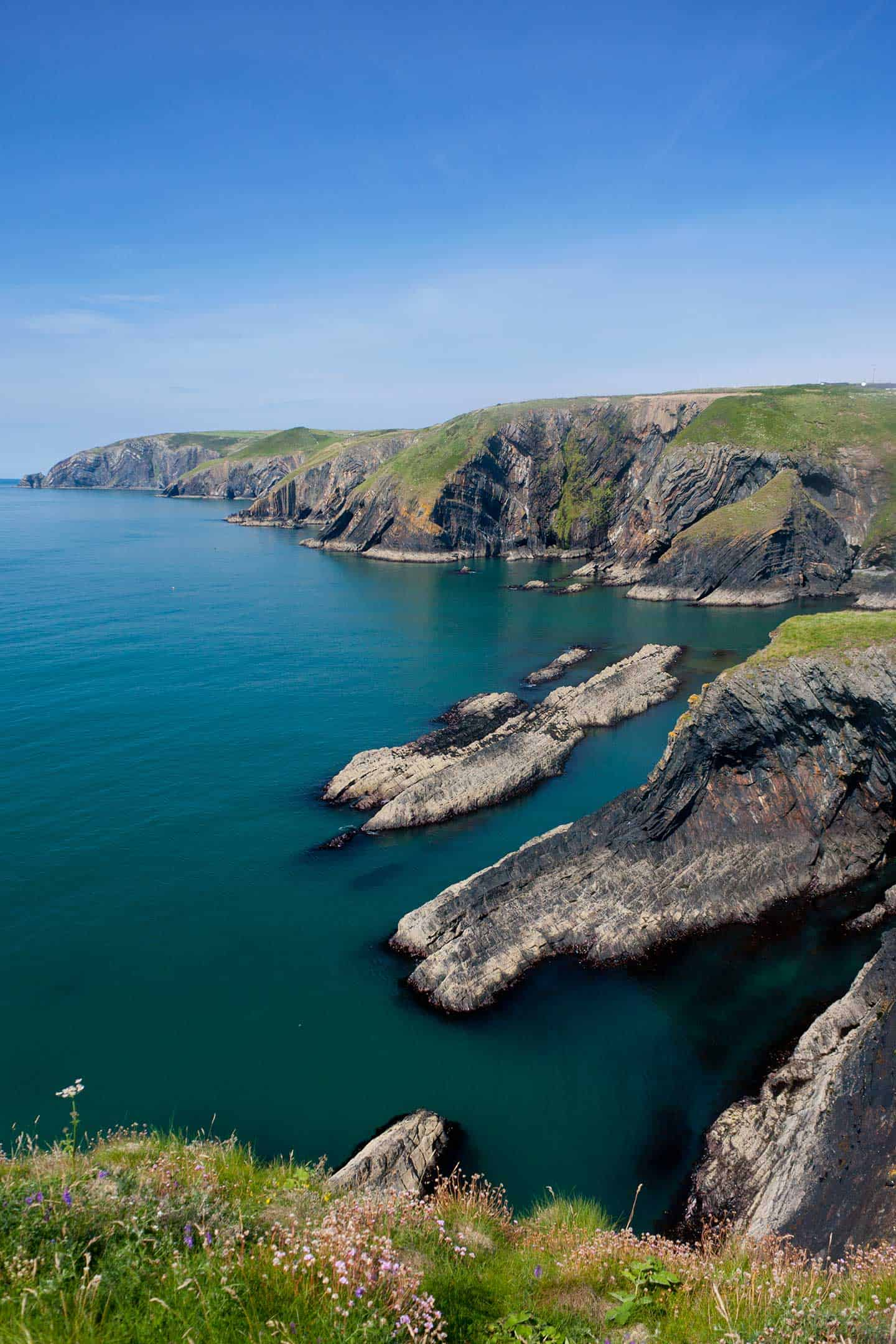 Image of Ceibwr Bay on the North Pembrokeshire coast, Wales