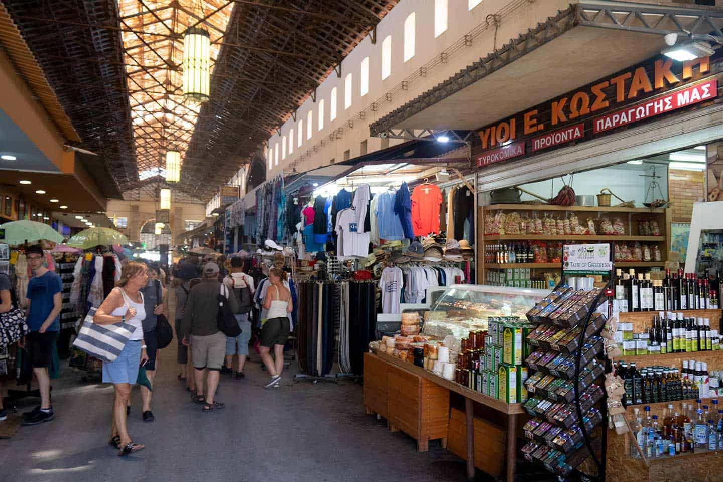 Image of the Agora Market in Chania