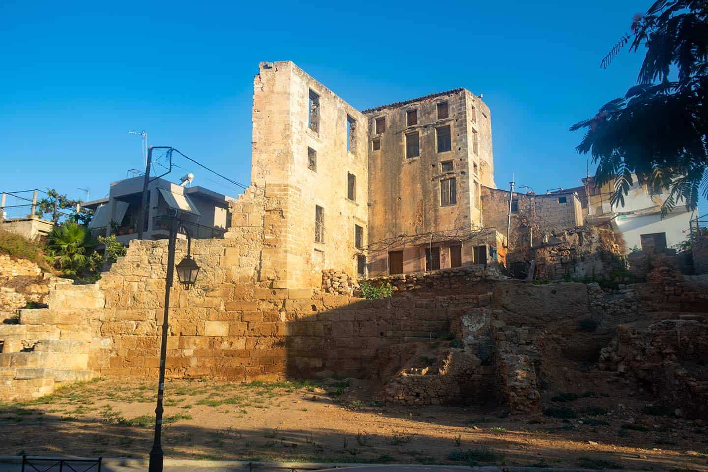 Image of the Byzantine walls in Chania Crete