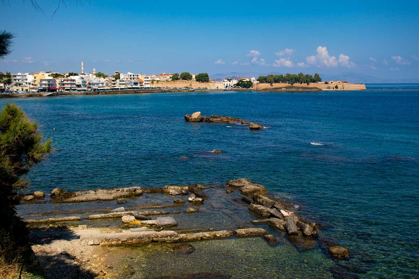 Image of rock baths at Koum Kapi beach Chania